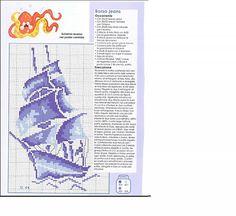 mare galeone monocolore - magiedifilo.it punto croce uncinetto schemi gratis hobby creativi