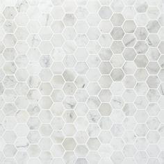 Hexagon Mosaic Tile, Marble Mosaic, Stone Mosaic, Stone Tiles, Carrara Marble, Hex Tile, Bathroom Floor Tiles, Shower Floor, Wall Tiles