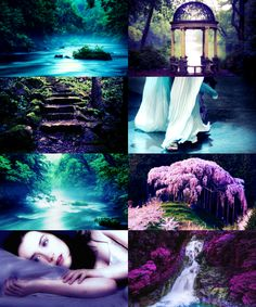 """Places in Valinor: The Isle of Estë ... """"Estë the gentle, healer of hurts and of weariness, is his spouse. Grey is her raiment; and rest is her gift. She walks not by day, but sleeps upon an island in the tree-shadowed lake of Lórellin. From the fountains of Irmo and Estë all those who dwell in Valinor draw refreshment; and often the Valar come themselves to Lórien and there find repose and easing of the burden of Arda."""""""