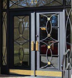 Interior Exterior, Interior Design, Prospect Park, Iron Doors, Windows And Doors, Wrought Iron, Townhouse, Manhattan, Gate