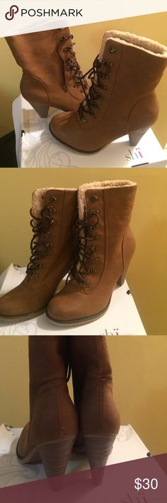 Shi by Journeys Boots Cute lace up boots..  Never worn... Excellent condition... Shi by Journeys  Shoes Ankle Boots & Booties