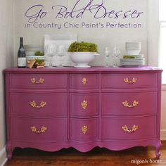 Purple Dresser Makeover from Migonis Home