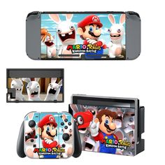 Mario Rabbids Kingdom Battle vinyl decal for Nintendo switch console sticker skin