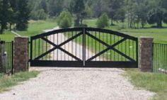 Double swing cross gate