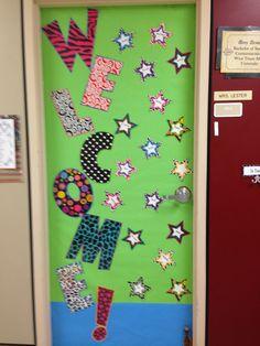 Welcome back classroom door