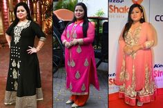 Stylish Outfits Every Plus Size Bride Can Steal From Comedy Queen Bharti Singh Plus Size Vintage Dresses, Plus Size Dresses, Plus Size Outfits, Indian Wedding Wear, Indian Bridal Fashion, Indian Gowns Dresses, Indian Outfits, Lace Dresses, Plus Size Fashion For Women