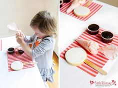 cupcake decorating activity-have frosting bags of different colors.