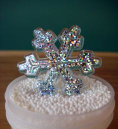 Snowflake Cupcake Topper - 12 Winter Cupcake Picks for Holiday Parties - Christmas Cupcakes on Etsy, $3.75