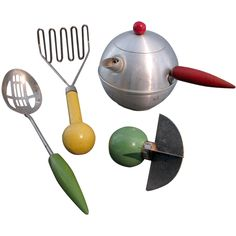 Henry Dreyfuss Industrial Design Collection of Kitchen Utensils | From a unique collection of antique and modern tea sets at https://www.1stdibs.com/furniture/dining-entertaining/tea-sets/