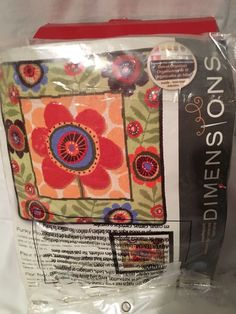 Needlepoint Kit Funky Flower By Anne Tavoletti Canvas Unframe Picture #Dimensions