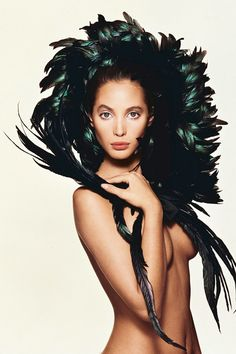 Christy Turlington - photographed by Patrick Demarchelier - British Vogue, December 1987 issue