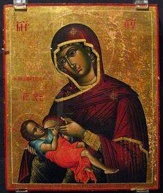 Galaktotrophousa (Spelaiotissa) Master Ioannis, 1778. Representación de María dando el pecho al Niño Jesús. En Occidente, Virgen de la Leche.