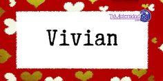 Conoce el significado del nombre Vivian #NombresDeBebes #NombresParaBebes #nombresdebebe - http://www.tumaternidad.com/nombres-de-nina/vivian/