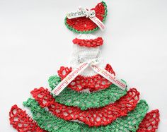 Southern Belle Crinoline Lady Hand Crochet Doily by designedbyl