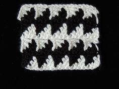 Crochet : Punto Fantasia en Blanco y Negro # 3