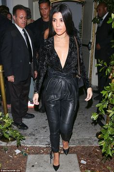 In shape: On Thursday, the reality star was spotted leaving Delilah in West Hollywood, cla...