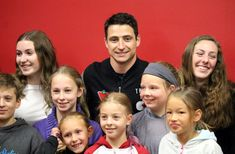 BEN COHEN/Sault Star Scott Moir (centre), Canadian figure skater and Olympic gold medalist, meets Sault Ste. Marie area figure skaters and fans at the Essar Centre Thursday afternoon. Virtue And Moir, Tessa Virtue Scott Moir, Thursday Afternoon, Team 2, Latest Stories, Ice Dance, Retirement Planning, Figure Skating