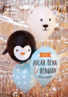 Globos de pingüinos y osos polares | Fiestas y Cumples