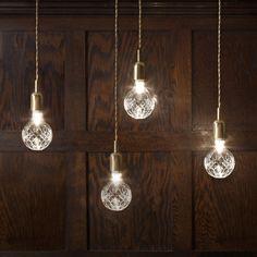 Hanging Crystal Bulbs