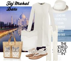 """""""Taj Mahal Date"""" by styled-by-daniela-douk on Polyvore"""
