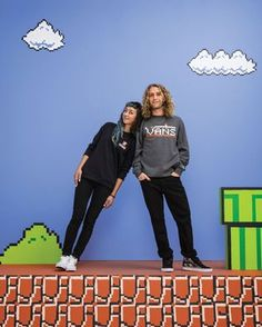 Vans Skate's Lizzie Armanto and Daniel Lutheran level up in style with the new Vans x @Nintendo collection.