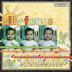 scrapbook ideas...cute layout idea for multiple pictures