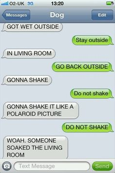 Text conversation with a dog...hilarious