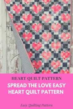 Heart Quilt Pattern Spread the Love with the New Easy Heart String Quilt Pattern #quilting #quilts #sewing Heart Quilt Pattern, Easy Quilt Patterns, Sewing Patterns, Spread Love, Easy Quilts, Free Pattern, Knitting, Crochet, Fabric