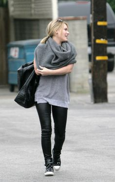 Rock leather jeans, an oversized bag and an infinity scarf like Hilary! Watch Hilary Duff in Younger from the creator of Sex and the City at 10/9C on TV Land. Watch the latest episode at http://www.tvland.com/shows/younger.