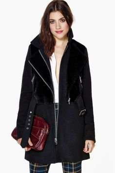Nasty Gal Manchester Faux Fur Coat