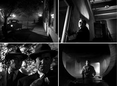 Film noir lighting - mostly back and key lighting, rarely any fill lights