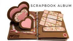 SCRAPBOOK ALBUM (PHOTO ALBUM) | SCRAPBOOK IDEAS - YouTube Love Scrapbook, Envelope Scrapbook, Album Photo Scrapbooking, Mini Albums Scrapbook, Scrapbook Cover, Scrapbook Designs, Paper Craft Work, Paper Crafts, Photo Polaroid