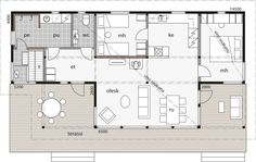 Home Technology, Small House Design, Home Design Plans, Mamma, House Plans, Floor Plans, Cottage, How To Plan, Chalets