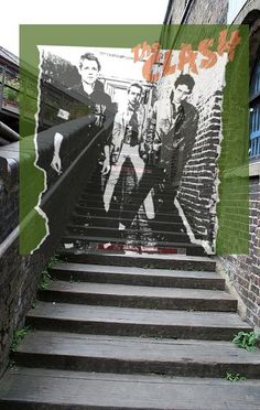 The album's front cover photo for the debut self-titled album #TheClash was taken in the alleyway directly opposite the front door of the band's 'Rehearsal Rehearsals' building. The photo of the band was taken in 1976 in what is now Camden Market.