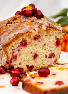 Flavourful and moist cranberry and orange loaf, ideal for your Christmas morning.