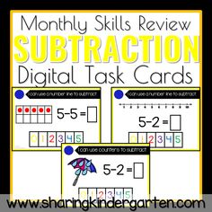Subtraction Less Than 5 THREE Different Ways Practice This deck contains Subtraction Practice task cards you use on Boom Cards. This will give your students a fun and interactive way to increase phonics practice in a super engaging way! Students will interact with MANY MATH SKILLS to build the word on each slide. Next, they […]