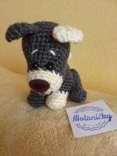 motaničky: háčkovaný prítulný psík