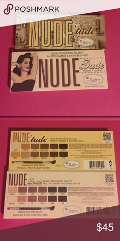 The balm cosmetics pallet Nude dude and nude Tude both are new never used or touched only nude Tude I kept brush price is firm will not trade items sorry The Balm Cosmetics  Makeup Eyeshadow