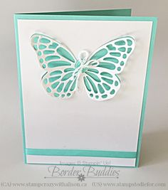 Stampin' Up! Butterflies Thinlits Dies is back and ready to order.  LOVE this butterfly!  www.stampstodiefor.com