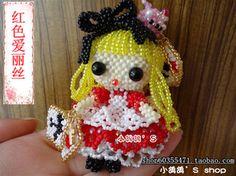 DIY串珠材料包 爱丽丝 日本米珠 手工串珠 手机挂件 创意礼物走线