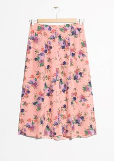 & Other Stories | #andotherstories #skirt #floral #midi