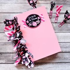 "Ribbon Fringed ""Princess"" Notebook 