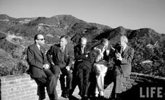 O.C. History Roundup. Gerald Heard, Christopher Isherwood, Julian Huxley, Aldous Huxley and Linus Pauling at the Ramakrishna Monastery, Trabuco Canyon, CA 1960. The land of Micky Mouse had a few counterculture groups.