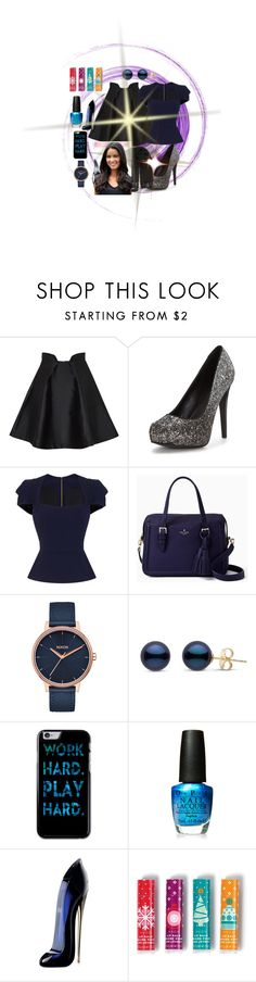 """""""Untitled #2698"""" by princhelle-mack ❤ liked on Polyvore featuring Paper London, Roland Mouret, Kate Spade, Nixon, OPI, Carolina Herrera, Avon and BeckSöndergaard"""
