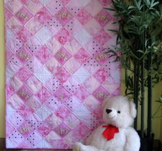Purr fectly in Pink handmade baby quilt