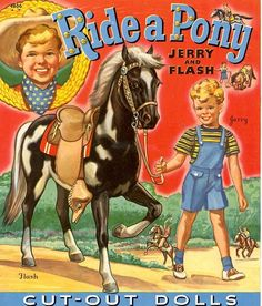 Ride a pony Paper Dolls Jerry and Flash 1 of 10