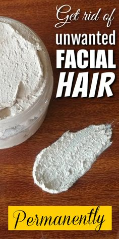 2 ingredient homemade mask that will remove all unwanted facial hair forever - maya Chin Hair Removal, Permanent Facial Hair Removal, Underarm Hair Removal, Electrolysis Hair Removal, Remove Unwanted Facial Hair, Unwanted Hair, Female Facial Hair, Face Facial, Best Hair Removal Products