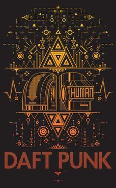 Daft Punk Poster by TaylorHicksArtShoppe on Etsy