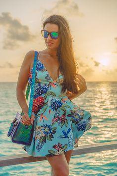 Tropical mini dress Velassaru Maldives Maldivas Crimenes de la Moda