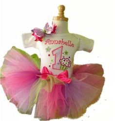 Personalized Pink and Purple Cupcake Birthday Tutu Outfit